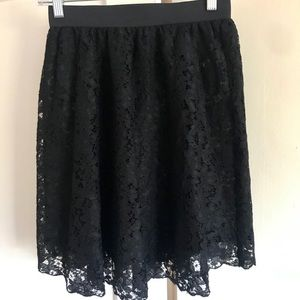 H&M! Divided by H&M Black Lace Skirt
